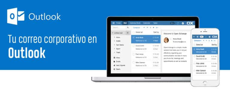 Correo corporativo en Outlook